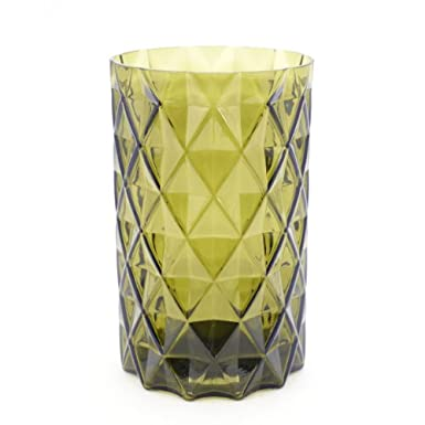Small Cut Glass Vase (Green)||RF10F