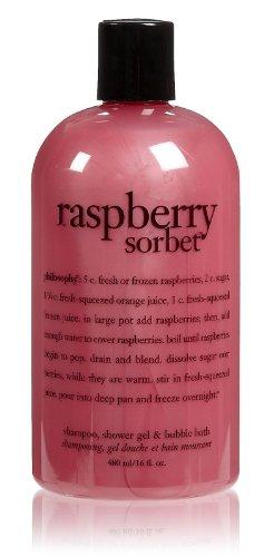 Philosophy Raspberry Sorbet Shampoo/Shower Gel/Bubble Bath, 16 Ounces (Raspberry Sorbet compare prices)