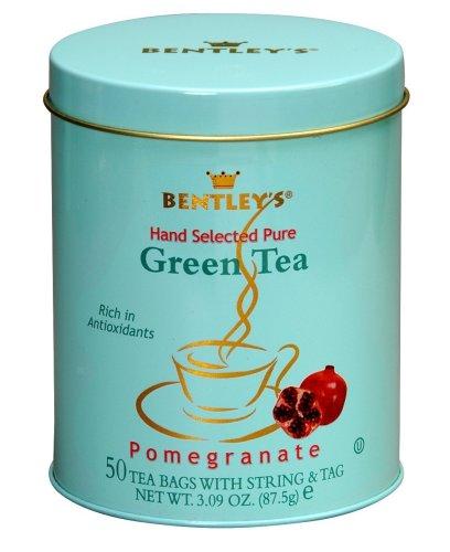 Bentley's Royal Pomegranate Green Tea, 50-Count Tea Bags