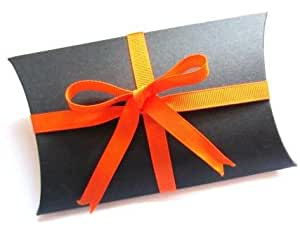 Wedding Gift Boxes Amazon : Amazon.com: 10 Large Gift Boxes / Wedding Favor Boxes - Black (100% ...