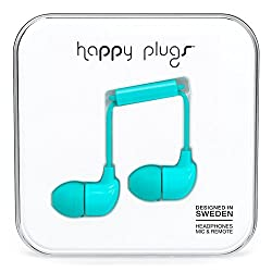 Happy Plugs In Ear Earphone With Mic (Turquoise)