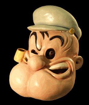 Popeye Mask - Buy Popeye Mask - Purchase Popeye Mask (SpookShop.com, SpookShop.com Accessories, SpookShop.com Mens Accessories, Apparel, Departments, Accessories, Men's Accessories)