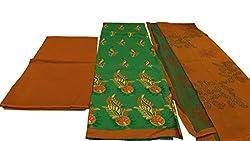 Alankar Textiles Panjabi Suit Piece Green Color Cotton Dress Material