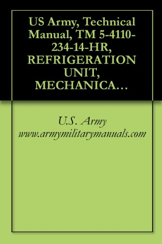 Us Army, Technical Manual, Tm 5-4110-234-14-Hr, Refrigeration Unit, Mechanical, Panel Mtd, Electric Motor Drive F-10000R-6, (Nsn 4110-01-077-8253), And, ... (4110-01-074-5175), Military Manuals