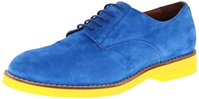 Del Toro Men's OX001 Oxford,Royal/Yellow Suede,12 M US