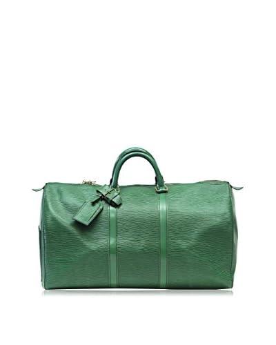 Louis Vuitton Leather Keepall Duffel Bag, Green