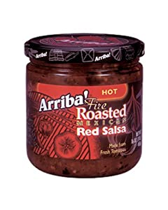 Arriba Fire Roasted Mexican Red Salsa Hot 16-ounce Jars Pack Of 3 by Arriba!