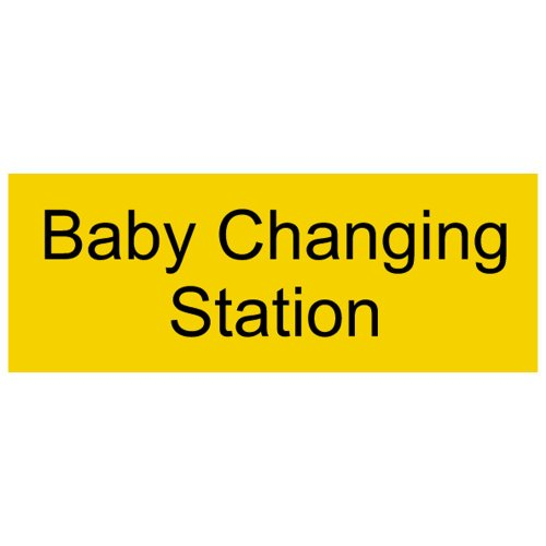 Compliancesigns Engraved Plastic Unisex / Family / Assisted Sign, 8 X 3 Yellow front-127850