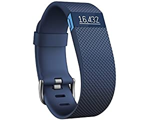 Fitbit Wristband CHARGE HR, Blue, S, FB405BUS-EU