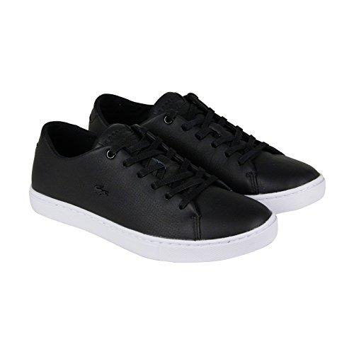 Lacoste Women's Showcourt Lace 116 1 Fashion Sneaker, Black, 6.5 M US