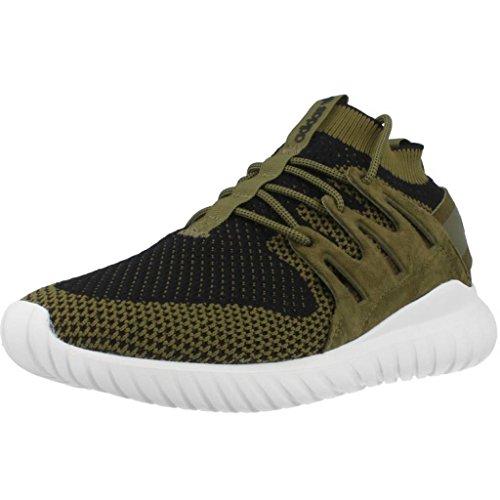 Adidas Tubular Nova Pk Scarpe da ginnastica, Uomo, Verde (Olicar/Cblack/Vinwht), 42 2/3