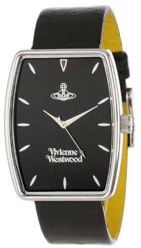 Vivienne Westwood VV009BKBK - Reloj para hombre, correa de cuero color negro