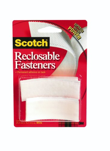 3M Scotch Reclosable Fasteners 1-Inch by 3-Inch, 6-Pack (RF7730)