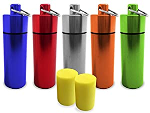 The JetRest Noise Reduction Foam Earplugs in Metal Cylinder / Canister / Container for Hearing Protection, Promotional Use and Corporate Events. Trade Priced Bulk Pack Discounts.