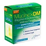 Mucinex DM-Expectorant/Cough Suppressant, 120 Tablets (3 Packs of 40 Count) ~ Mucinex DM