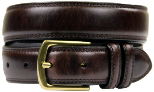 "Belts.com HJ-9 30mm Italian Oil Tanned Cowhide 1 1/8"" Wide Belt-Dark Brown-44-Dark Brown"