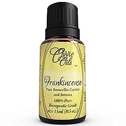 Ovvio Oils 100% Pure Frankincense (Boswellia carteri and Boswellia serrata) Therapeutic Grade Essential Oil 15 ml (14.8 g)