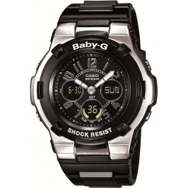 Baby-G Women's Quartz Watch with Black Dial Analogue - Digital Display and Black Resin Strap BGA-110-1B2ER