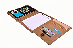 Executive Business Organizer Padfolio, Letter / A4 Paper, for Microsoft Surface Pro 3 / Surface Pro 4, Brown