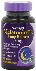 Natrol Melatonin Timed Release Tablets, 3mg 100 ea