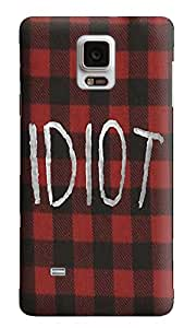 The Fappy Store IDIOT-(Red-Flannel) plastic Back Cover For Samsung Galaxy Note 4