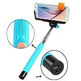 dizauL� Palo Selfie Bluetooth/ Selfie Stick / Autorretrato con Soporte Extensible Brazo Monopod de Mano Con el Tel�fono y Con Bot�n de Bluetooth