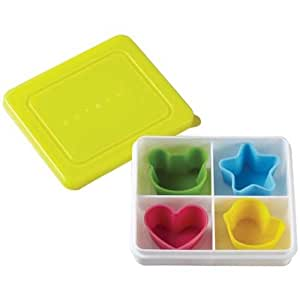 bento box lunch box with 4 silicone cups from japan kitchen dining. Black Bedroom Furniture Sets. Home Design Ideas