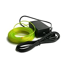 Fortune Products ELMW-2.5-22L Electroluminescent Motion Wire, 2.5mm Diameter x 22 yd Length, Lime