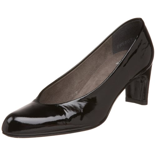 Stuart Weitzman Women's Chicpump Pump,Black Soft Patent,7.5 M US