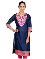 Rajrang Women Partywear Dress Kurta Tunics Long Kurti Top Size L