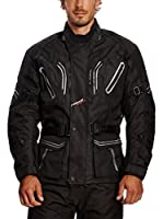 Roleff Racewear Chaqueta de Moto Motorrad (Negro)