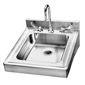 Just Hcl 23520 T Ada Compliant Wheelchair Accessible 18ga T 304 Stainless Steel Lavatory Sink