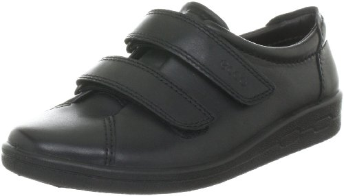 Ecco Also Strap Ladies' Velcro Shoes 12573 Black Leather 6 / 39
