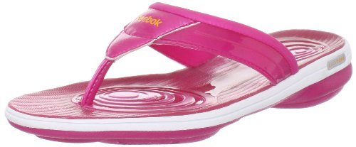 Reebok Womens Easytone Plus Flip Sports Shoes - Fitness Pink Pink (pink/white/orange 43) Size: 8.5 (42.5 EU)