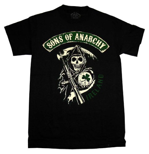 Sons Of Anarchy Reaper Ireland Irish SOA TV Show T-Shirt Tee Select Shirt Size: Large