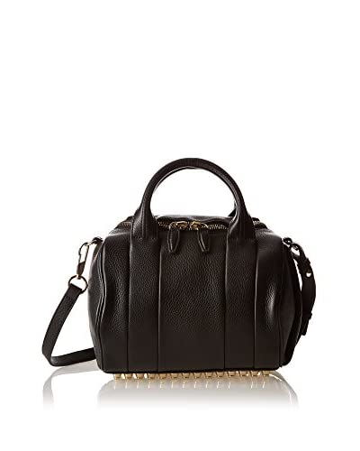 Alexander Wang Bolso asa de mano Rockie Black Soft Pebbleleather/Pale Gold