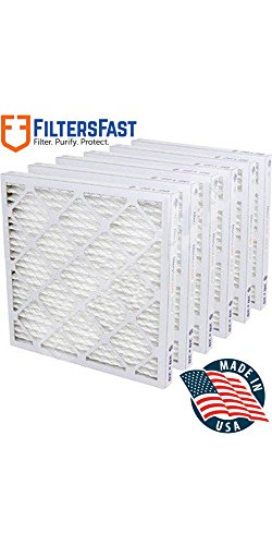 """1"""" Pleated Air Filter Merv 13 - 6 pack by Filters Fast 10x25x1"""