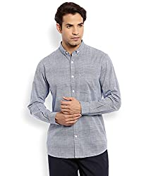 Colorplus Men's Casual Shirt (8907397515204_CMSS25758-B7_Small_Dark Blue)
