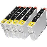 5 Schwarz T1281 Druckerpatrone FÜR Epson Stylus SX445W SX440W S22 SX230 SX430W SX-440W SX-445W Druckerpatronen kompatibel
