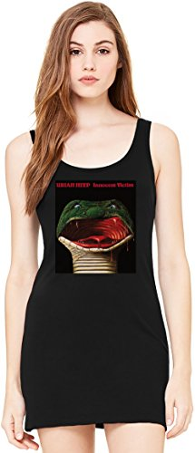 Uriah Heep Innocent Victim Album Cover Tunica Smanicata Bella Basic Sleeveless Tunic Tank Dress For Women| 100% Premium Cotton| X-Large