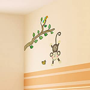 Monkey Land - Wall Decals Stickers Appliques Home Decor from Blancho Bedding