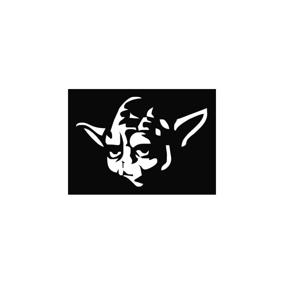 Yoda Star Wars Die Cut Vinyl Decal Sticker 6 White