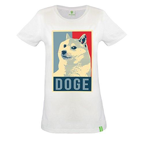 Doge-T-shirt-T-shirt-en-coton-biologique-blanc-femmes