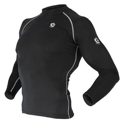 COOVY Sports Surf Rashguard Swim Shirt Skin Base Layer Heat Long Sleeve UPF 50+