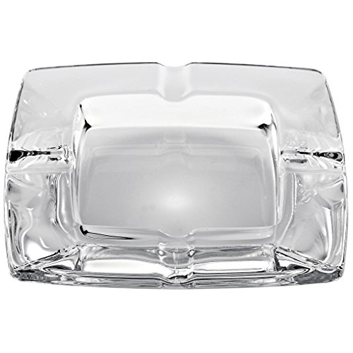 "Ashtray, Glass Ashtray ,كريستال متكة منفضة سجائر ""Klara"", 11 cm,glass, transparent, modern style (GERMAN CRYSTAL powered by CRISTALICA)"