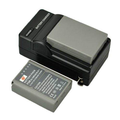 DSTE 2x BLN-1 BLN1 Li-ion Battery + DC133 Charger for Olympus OM-D E-M5 EM5 Cameras
