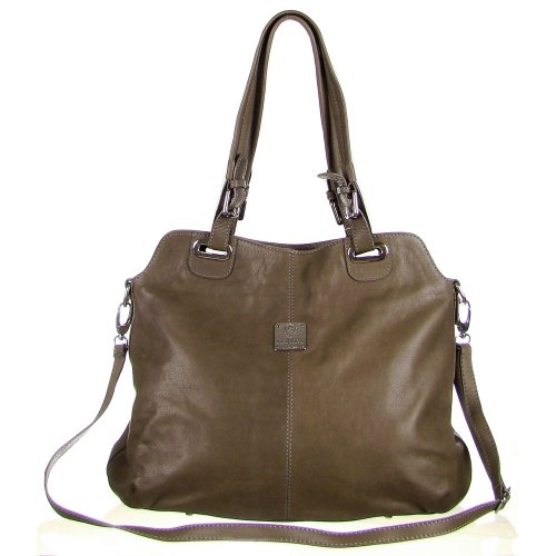 e2068b8d2e Price Comparisons MEDICHI Italian Made Taupe Leather Large Tote ...