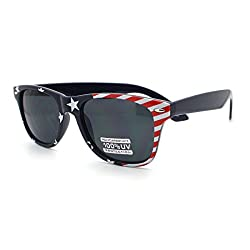 Patriotic USA American Flag Pattern Wayfarer Sunglasses