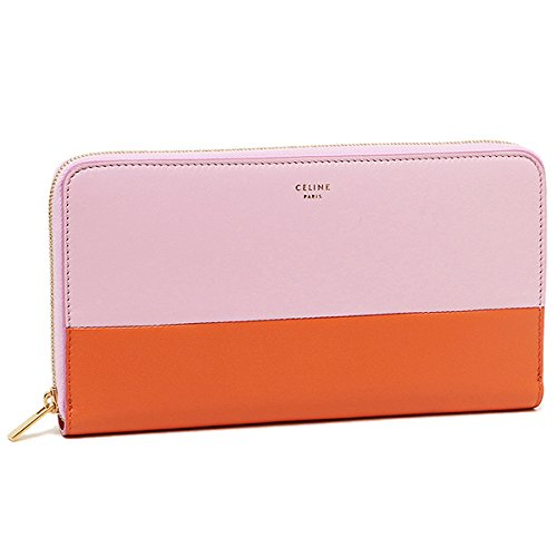 (セリーヌ) CELINE セリーヌ 財布 CELINE 10398 3XTM 23PB LAGED MULTIFUNCION 長財布 PINK/BURNT ORANGE[並行輸入品]
