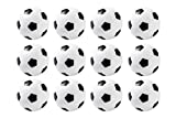 Set of 12 Mini Soccer Foosball Table Replacements 36mm Black and White by...